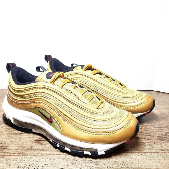 release date: 46553 eac45 NIKE Air Max 97 OG QS RETRO -Metallic GOLD Varsity